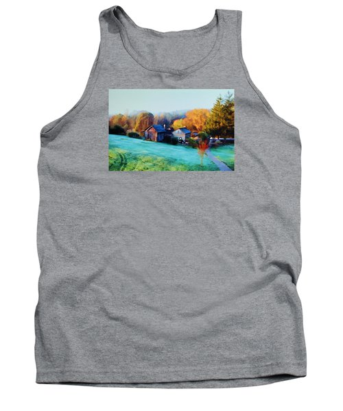Tank Top featuring the photograph Misty Autumn Day by Diane Alexander
