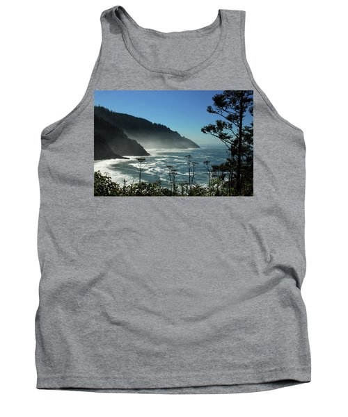 Misty Coast At Heceta Head Tank Top
