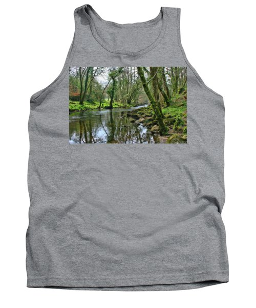 Misty Day On River Teign - P4a16017 Tank Top