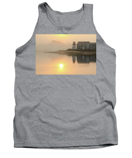 Misty Morning Hyannis Harbor Lighthouse Tank Top