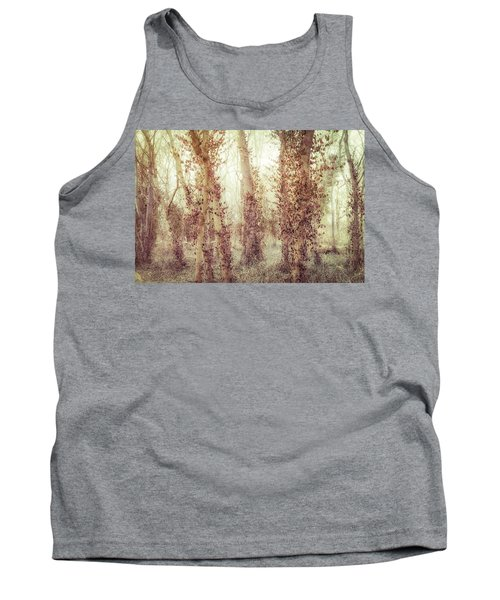 Misty Morning Winter Forest  Tank Top