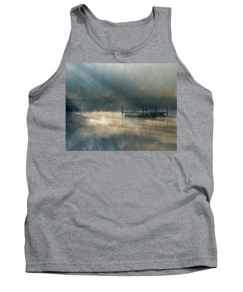 Tank Top featuring the photograph Misty Sunrise by George Randy Bass