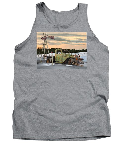 Tank Top featuring the digital art Model A Flatbed by Stuart Swartz