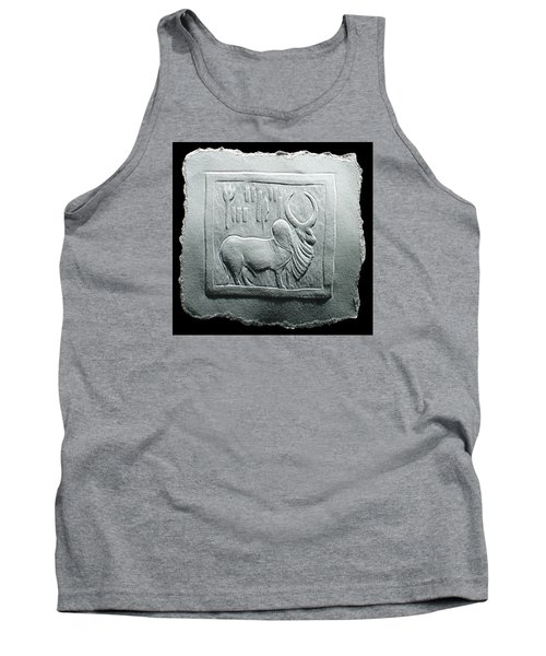 Tank Top featuring the relief Mohenjodaro Seal Relief Drawing by Suhas Tavkar