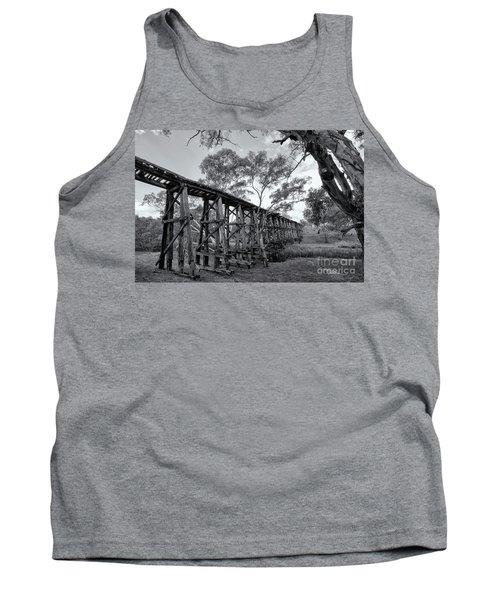 Tank Top featuring the photograph Mollisons Creek Trestle Bridge by Linda Lees