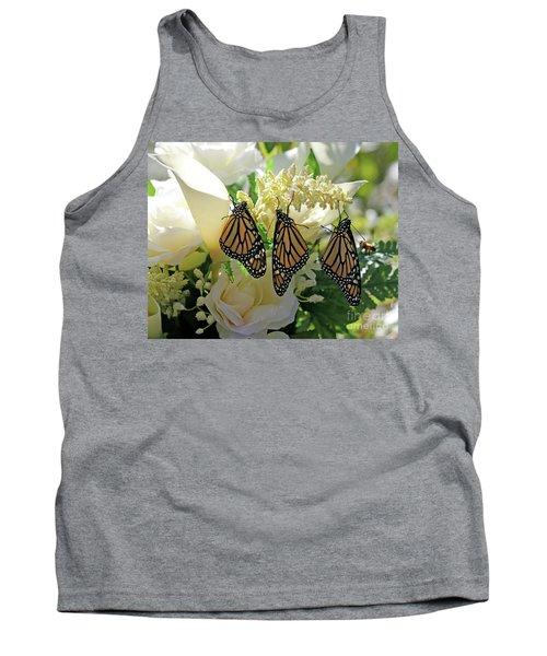 Monarch Butterfly Garden  Tank Top by Luana K Perez