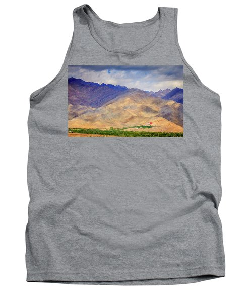 Tank Top featuring the photograph Monastery In The Mountains by Alexey Stiop
