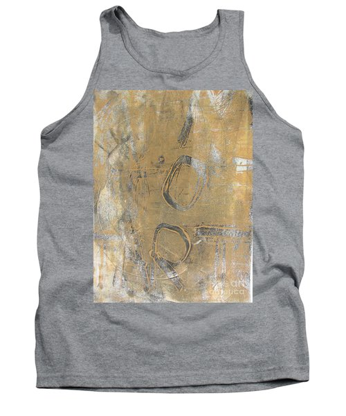 Tank Top featuring the drawing Mono Print 003 - I Am Not Art by Mudiama Kammoh