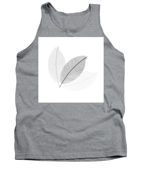 Tank Top featuring the photograph Monochrome Leaves by Andrea Kollo