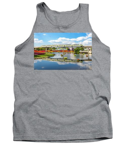 Monorail Cruise Over The Flower Garden. Tank Top