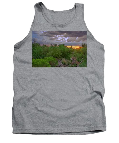 Tank Top featuring the photograph Monsoon Sunset H56 by Mark Myhaver