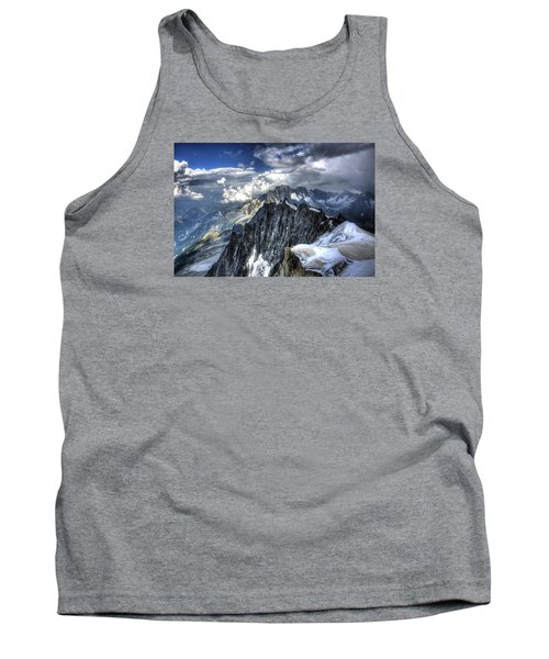 Mont Blanc Near Chamonix In French Alps Tank Top by Shawn Everhart