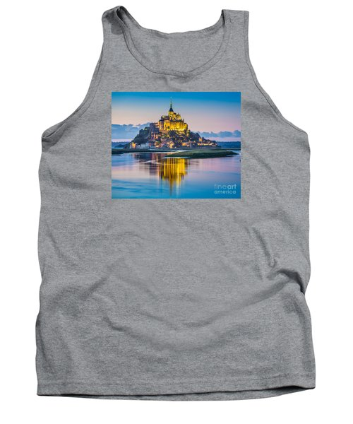 Mont Saint-michel In Twilight Tank Top by JR Photography
