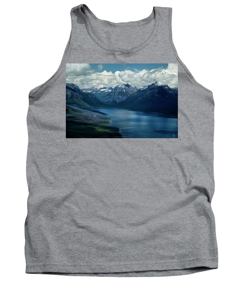 Montana Mountain Vista And Lake Tank Top