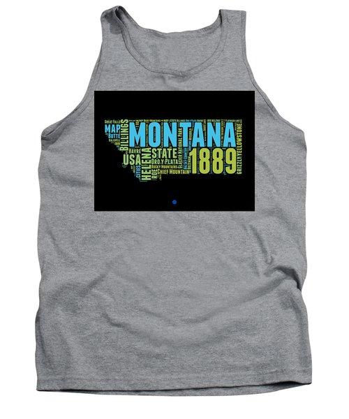 Montana Word Cloud 1 Tank Top