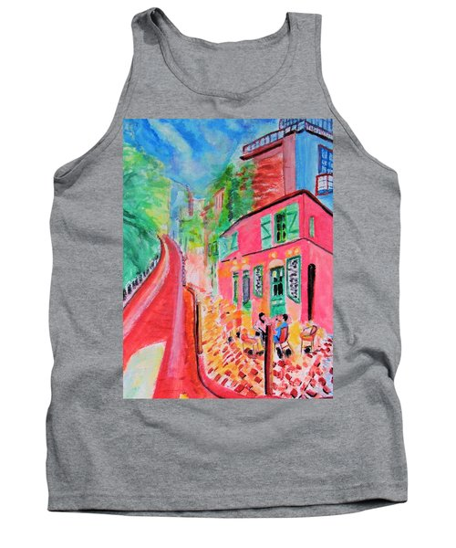 Montmartre Cafe In Paris Tank Top