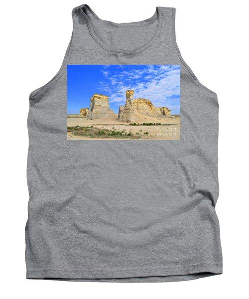 Monument Rocks In Kansas 2 Tank Top