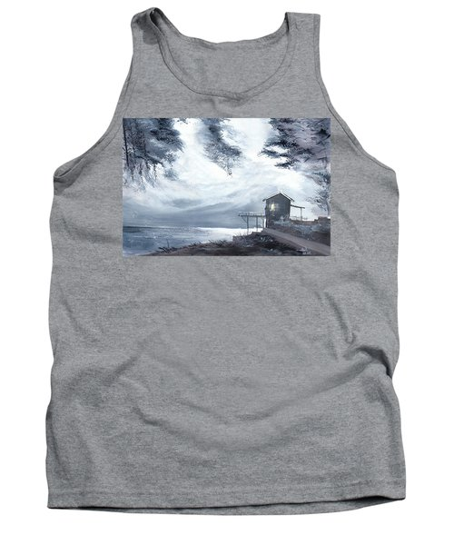 Tank Top featuring the painting Moon Light New by Anil Nene