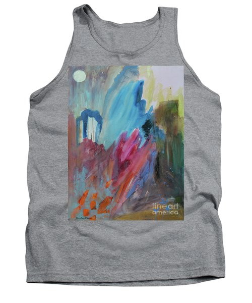 Tank Top featuring the painting Moonchaser by Robin Maria Pedrero