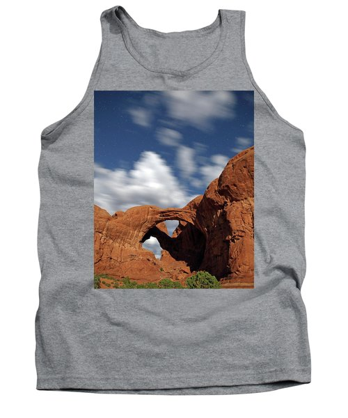 Moonlight On Double Arch In Arches Np Tank Top