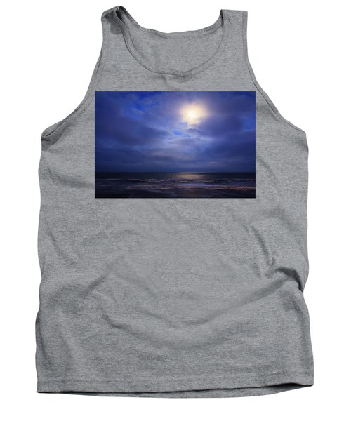 Moonlight On The Ocean At Hatteras Tank Top