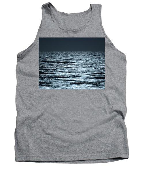 Moonlight On The Ocean Tank Top by Nancy Landry