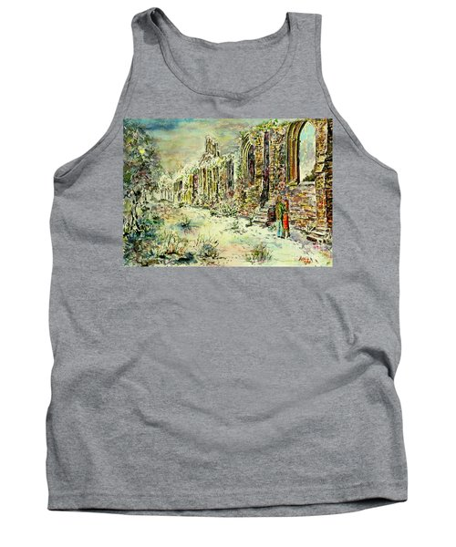 Tank Top featuring the painting Moonlit Footsteps On Holy Ground by Alfred Motzer
