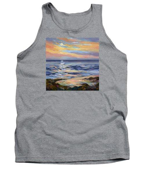 Moonrise At Cabrillo Beach Tank Top by Jane Thorpe