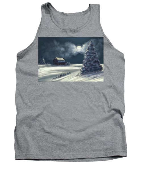 Tank Top featuring the digital art Moonshine On The Snow by Lois Bryan