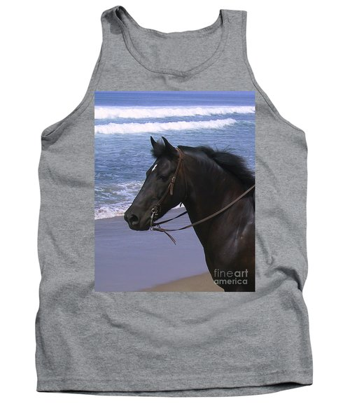 Morgan Head Horse On Beach Tank Top