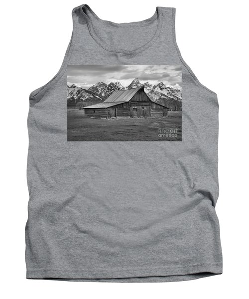 Mormon Homestead Barn Black And White Tank Top by Adam Jewell