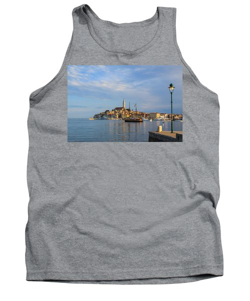 Tank Top featuring the photograph Morning Aquarelle In Rovinj by Davorin Mance