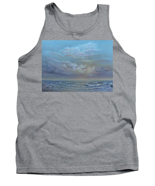 Tank Top featuring the painting Morning At The Ocean by Luczay