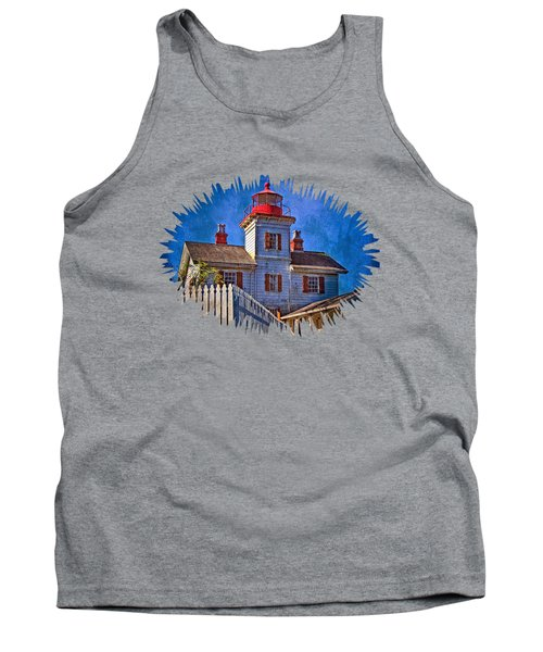 Morning At The Yaquina Bay Lighthouse Tank Top by Thom Zehrfeld