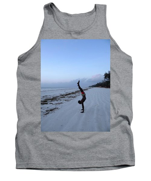 Morning Exercise On The Beach Tank Top