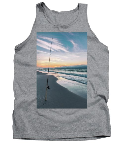 Tank Top featuring the photograph Morning Fishing At The Beach  by John McGraw