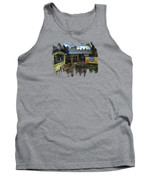 Tank Top featuring the photograph Morning Glory Cafe Ashland by Thom Zehrfeld