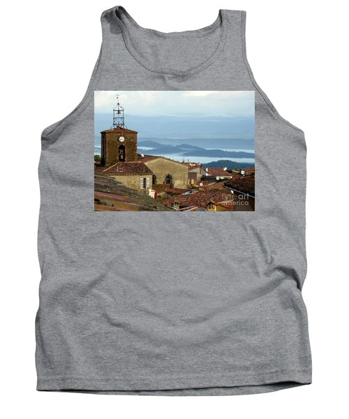 Tank Top featuring the photograph Morning Mist In Provence by Lainie Wrightson