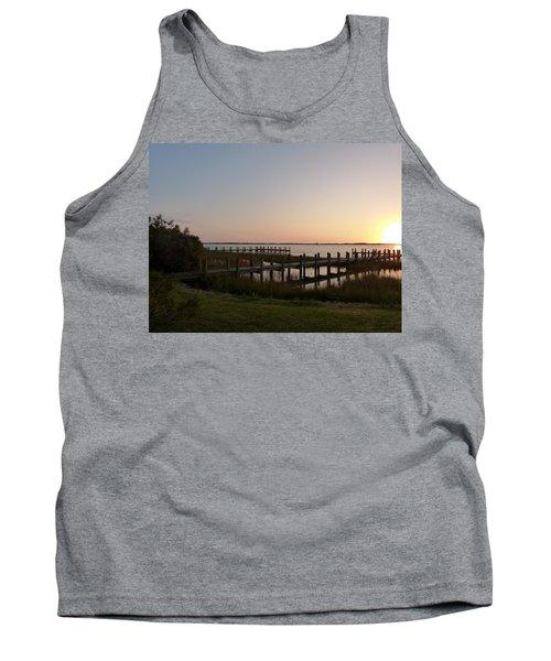 Morning Sunrise Over Assateaque Island Tank Top by Donald C Morgan