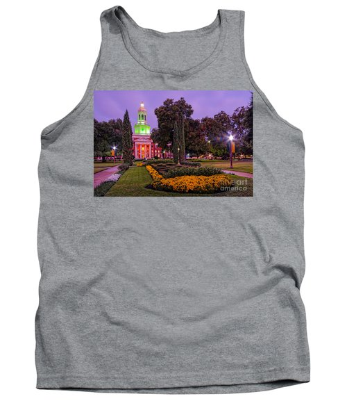 Morning Twilight Shot Of Pat Neff Hall From Founders Mall At Baylor University - Waco Central Texas Tank Top