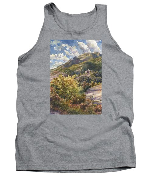 Tank Top featuring the painting Morning Walk At Mount Sanitas by Anne Gifford