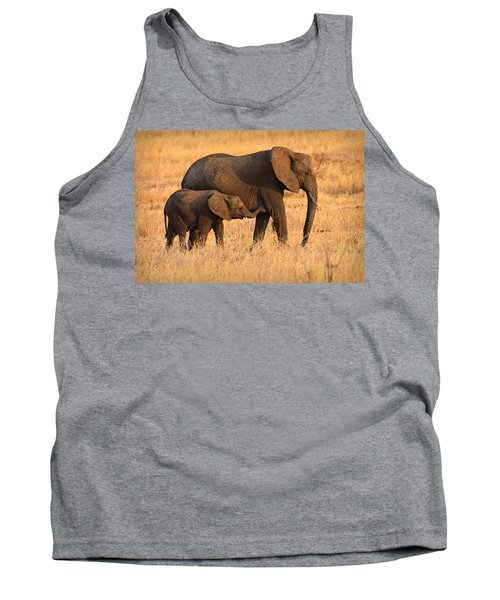 Mother And Baby Elephants Tank Top