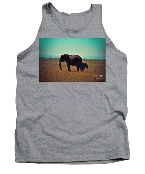 Tank Top featuring the photograph Mother And Child by Karen Lewis