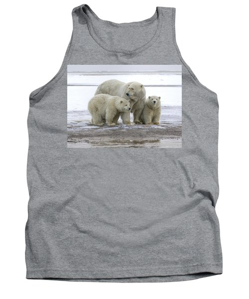 Mother And Cubs In The Arctic Tank Top
