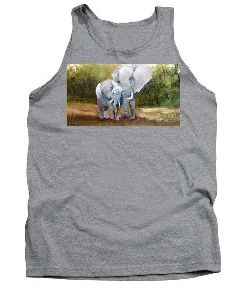 Mother Love Elephants Tank Top