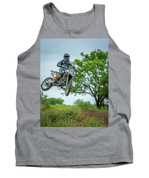 Tank Top featuring the photograph Motocross Aerial by David Morefield