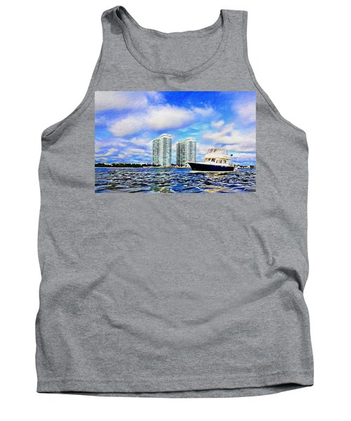 Motoring Past The Marina Grande Tank Top by Alice Gipson