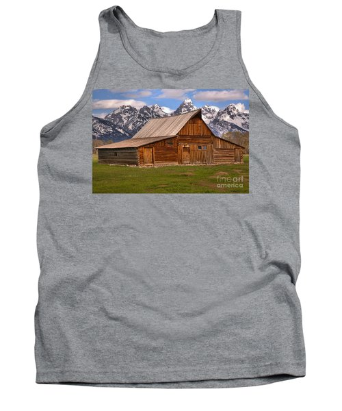 Moulton Barn Spring Landscape Tank Top by Adam Jewell