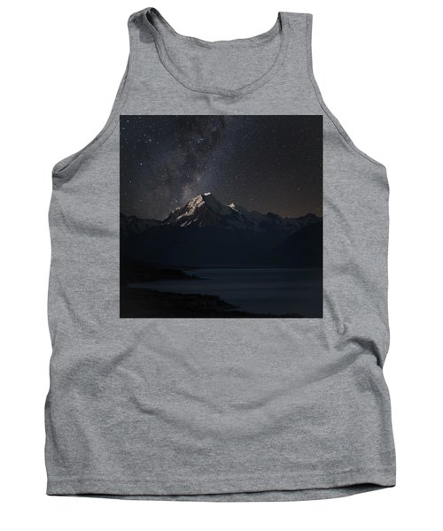 Mount Cook And Lake Pukaki At Night Tank Top by Martin Capek
