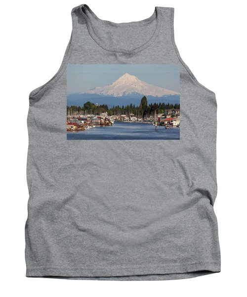 Mount Hood And Columbia River House Boats Tank Top